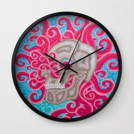 skull and octopus Wall Clock