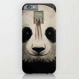 Panda window cleaner 03 iPhone Case