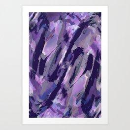 Thunder Plum Abstract Art Print