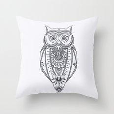 O W L - B&W Throw Pillow