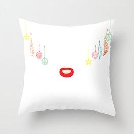 Soccer Kick Goal Reindeer Funny Christmas Gift Throw Pillow