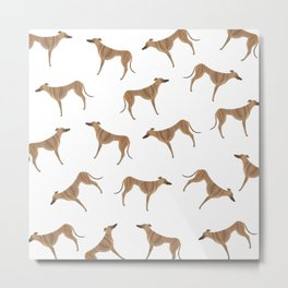 Tiger Greyhound Metal Print
