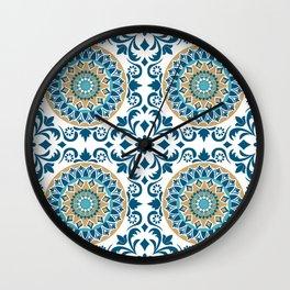 Bluish Variety Pattern Wall Clock