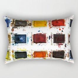 Watercolor palette Rectangular Pillow