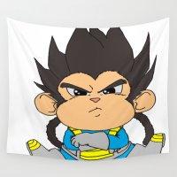 dbz Wall Tapestries featuring Monkey Vegeta by Kame Nico