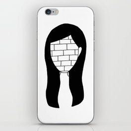 """All in all you're just another brick in the wall"" iPhone Skin"