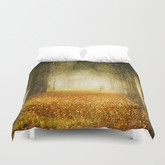 Man in the woods. Duvet Cover