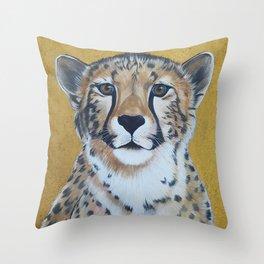 Cheetas, acrylic on canvas Throw Pillow