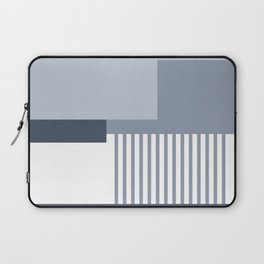 Sol Abstract Geometric Print in Blue Laptop Sleeve