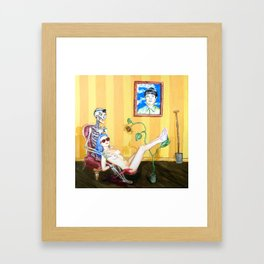 Blood and Bones in a Yellow Room Framed Art Print