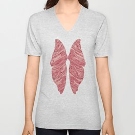 Abstract Butterfly Wings Design Unisex V-Neck