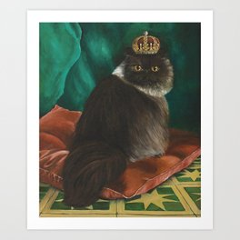 DONETE, A FANCY CHOCOLATE PERSIAN CAT Art Print