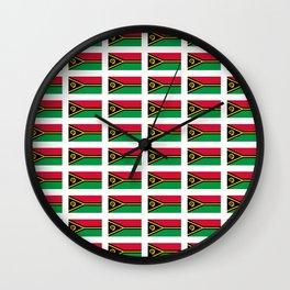 Flag of vanuatu -vanuatu,Ni-Vanuatu,Vanuatais,Vanuatuan,port vila. Wall Clock