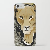 lesbian iPhone & iPod Cases featuring The Lesbian & the Lioness by BinaryGod.com