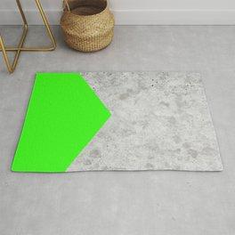 Geometric Concrete Arrow Design - Neon Green #394 Rug