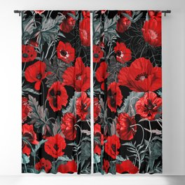 Poppy Garden Blackout Curtain