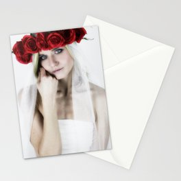 woman with a rose crown ll. Stationery Cards