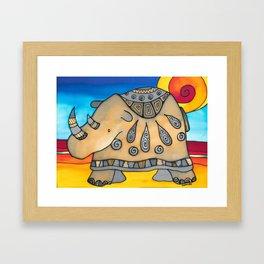 Glamorous Rhino Ethel Framed Art Print