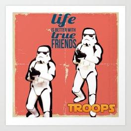 Troops Art Print