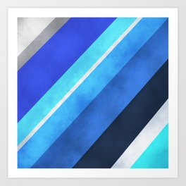Parallel Blues Art Print