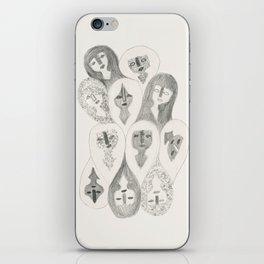 Pencil Girls iPhone Skin