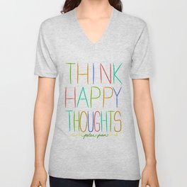 Peter Pan Think Happy Thoughts Unisex V-Neck