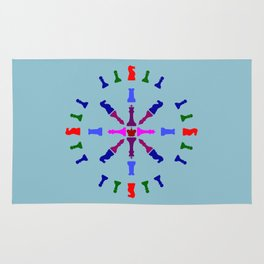 Chess Piece Design Rug