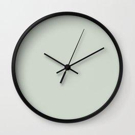 Green Linen Wall Clock