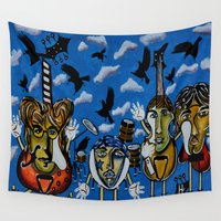 liverpool Wall Tapestries featuring The Liverpool Blackbirds by Heather Wilkerson Art