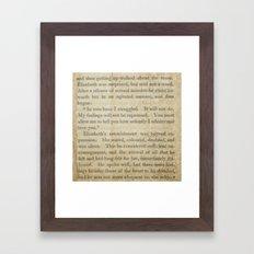 Pride and Prejudice  Vintage Mr. Darcy Proposal by Jane Austen   Framed Art Print