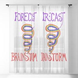 Forecast: Rainbow Tornado Brainstorm Sheer Curtain