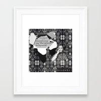 bukowski Framed Art Prints featuring Bukowski by BRISTOL NOIR