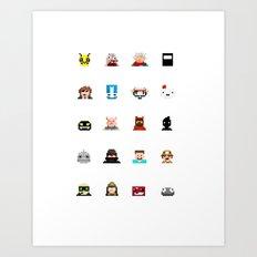 Indie Game Pixels Art Print