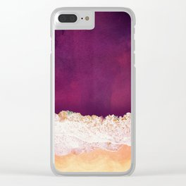 Maroon Ocean Clear iPhone Case