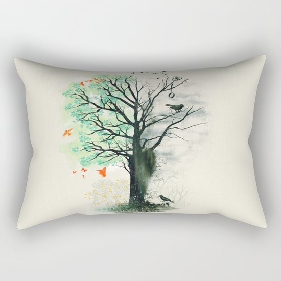 They Loved the Landscape to Death Rectangular Pillow