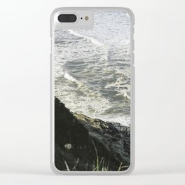 Of sea and foam Clear iPhone Case