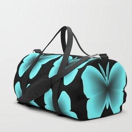 Blue Butterfly Print / Pattern Duffle Bag