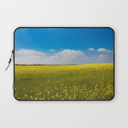 Drifting Days - Blissful Spring Day of Blue Skies and Yellow Canola Fields Laptop Sleeve