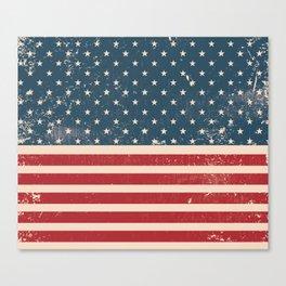 Vintage Distressed American Flag Canvas Print