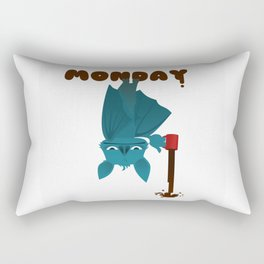Bat Monday Rectangular Pillow