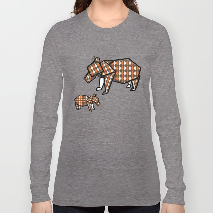 Origami Bear Long Sleeve T-shirt