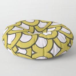 Gold Medusa Scale Pattern Art Floor Pillow