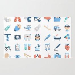 CUTE MEDICINE / SCIENCE / DOCTOR PATTERN Rug