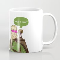 legolas Mugs featuring What I miss? by tokidokiloki