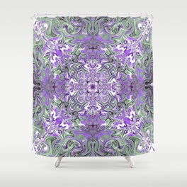 Lilac and Pink Pattern Shower Curtain