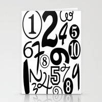 numbers Stationery Cards featuring Numbers by Sweet Colors Gallery