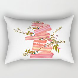Floral Dessert Rectangular Pillow