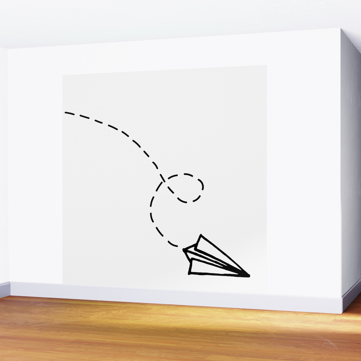 Send It Simple Paper Airplane Drawing Wall Mural By Stopthepresses Society6