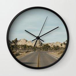 Joshua Tree Road Wall Clock