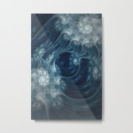 Frozen Underground. Digital Abstract Art  Metal Print